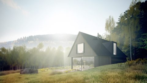 Nedaleko lipenské nádrže vzniká soběstačný dům